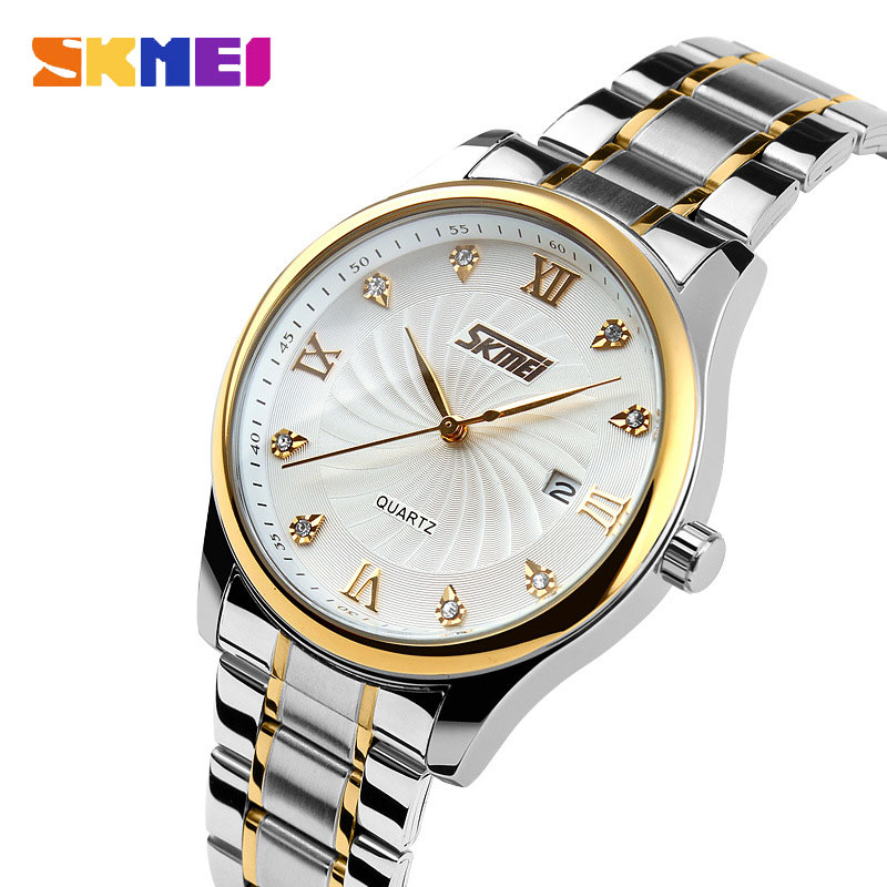 SKMEI Ultrathin Business Waterproof Quartz Stainless Steel Strap Men Watches