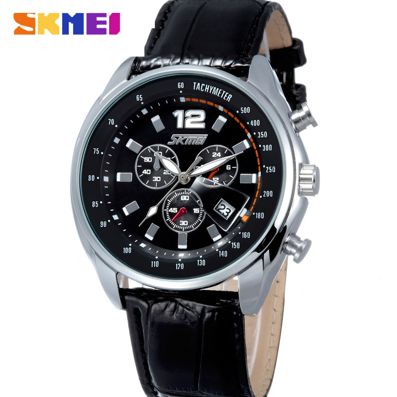 SKMEI Fashion Korean Style Casual Calendar Analog Quartz Men Watches