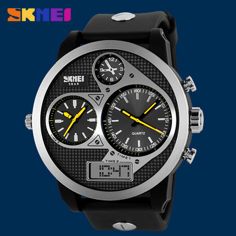 SKMEI Business Korean Style Quartz Waterproof Round Men Wristwatches