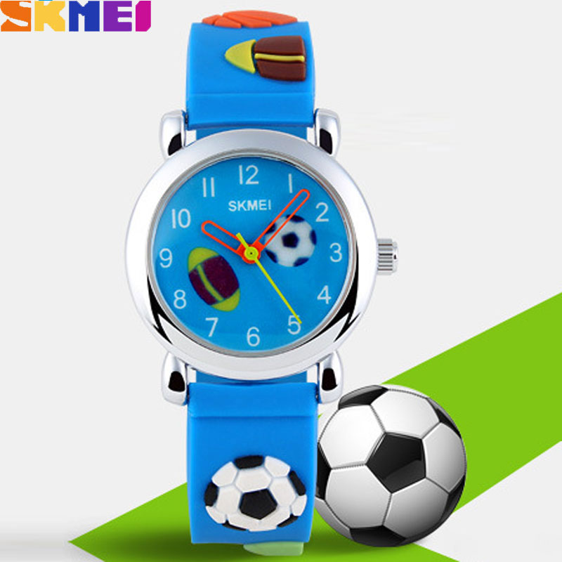 SKMEI Waterproof Nightlight Jelly Quartz Casual Style Kids Watches