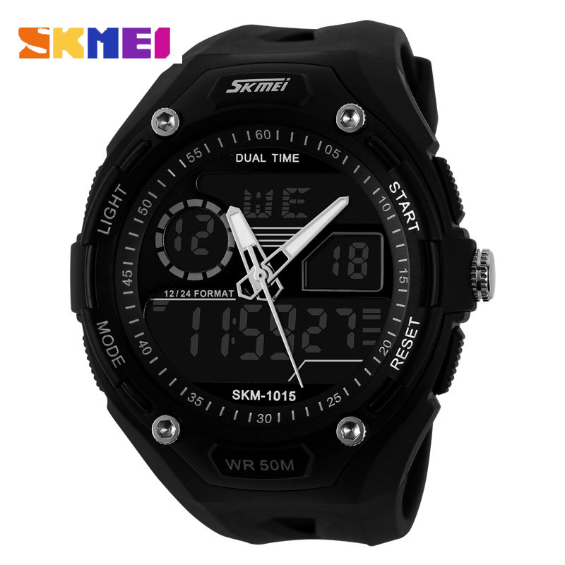 SKMEI Waterproof Electronic Analog-Digital Multifunction Round Men Watches