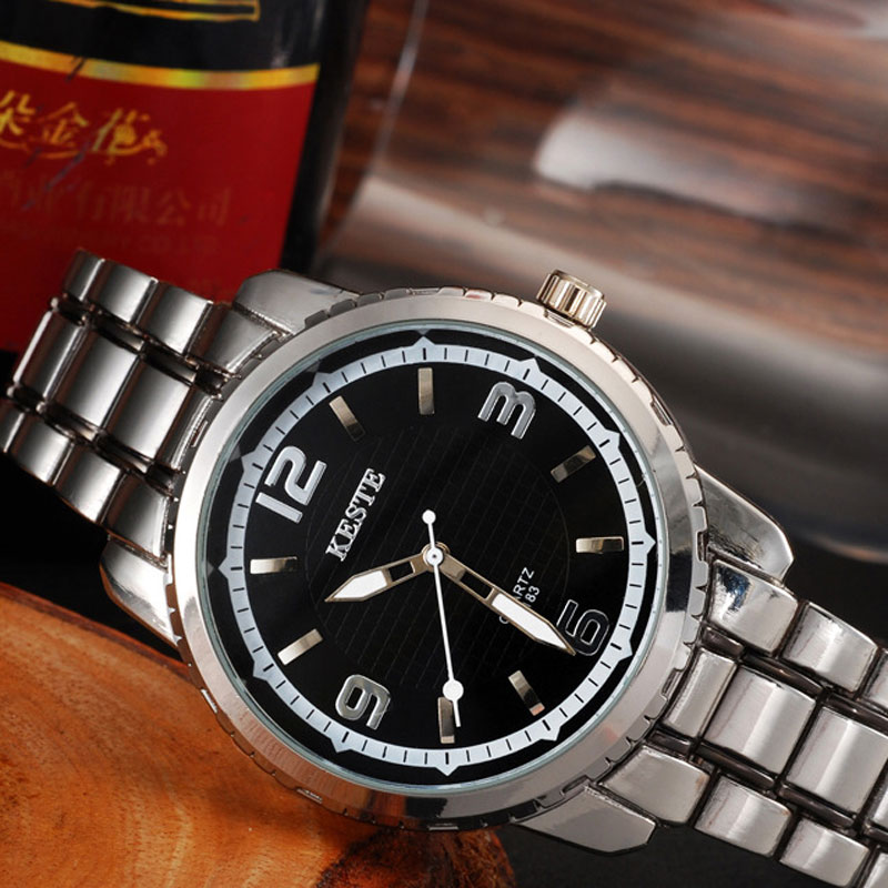 Black/White Dial Waterproof Business Style Men Watches