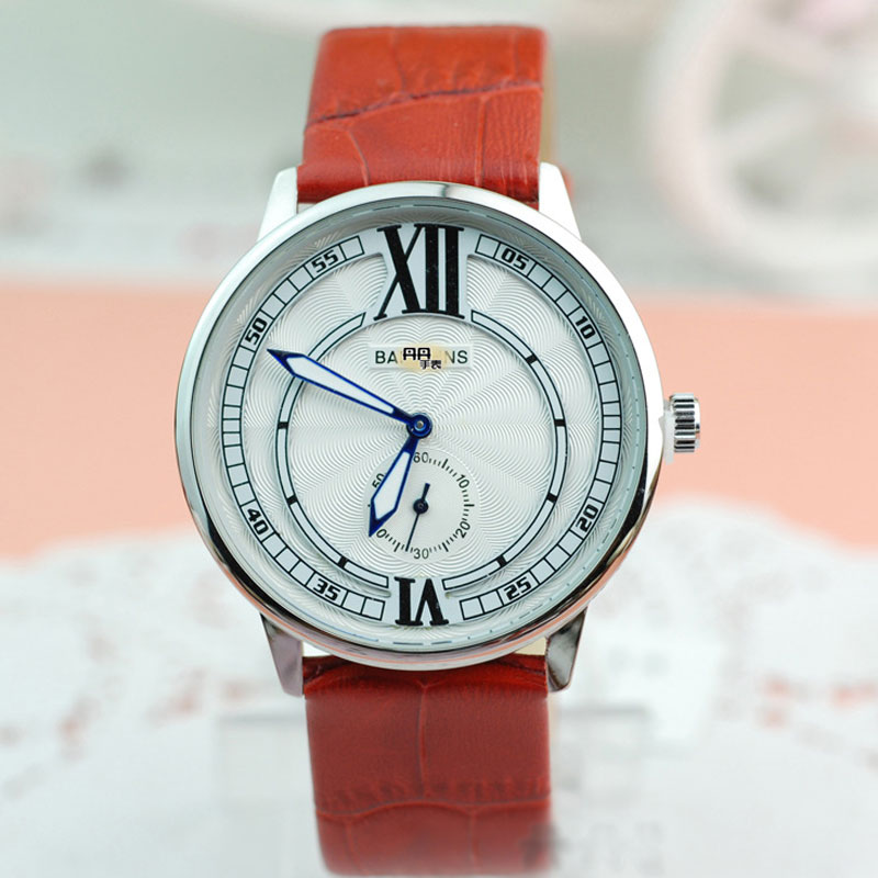 White Dial Different Leather Straps Analog Men Watches