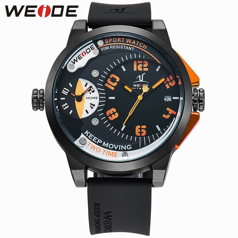 WEIDE Luxury Brand Men Sports Watches Quartz Hour Clock Fashion Wrist Watch