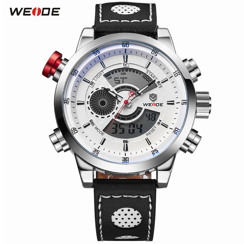 WEIDE Men's Fashion Sports Watch Quartz Digital 30m Waterproof Men Watches