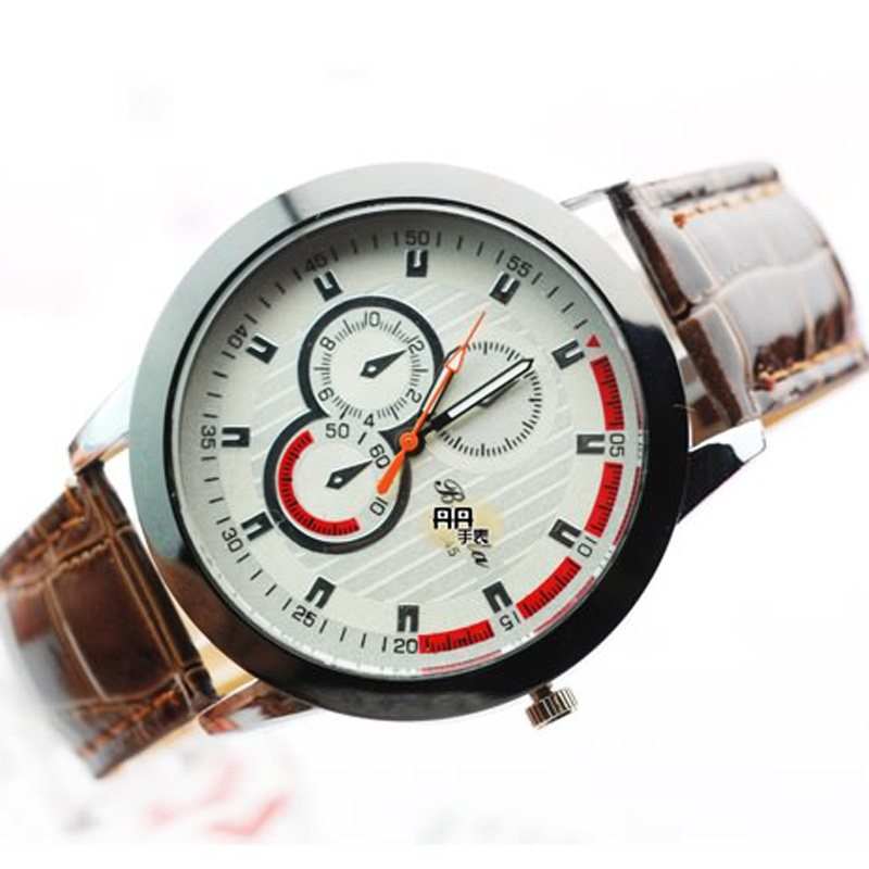 Classic Waterproof White Dial Quartz Stainless Steel Men Watch 65636