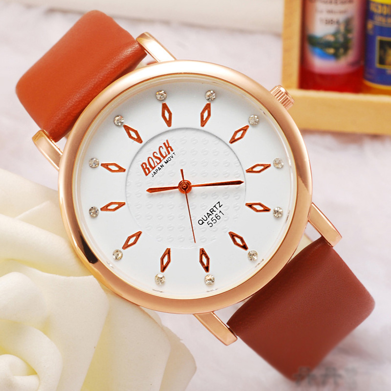 Fashion White Dial Rose Gold Case Quartz Men Watch 69481