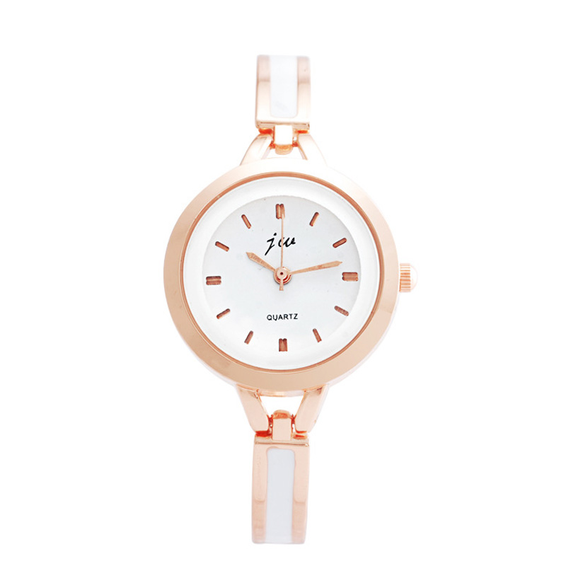 Elegant Women Watch Rose Gold Case Braclet White Dial Watch 67563
