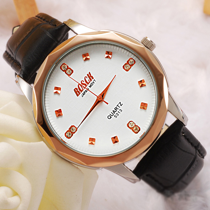 Fashion Beautiful Diamond Markers Quartz Couple Watch 69480