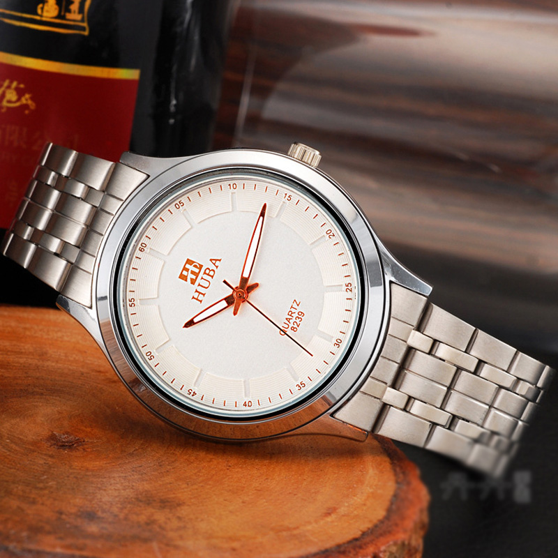 Fashion Business Black/White Dial Quartz Men Watch 68104