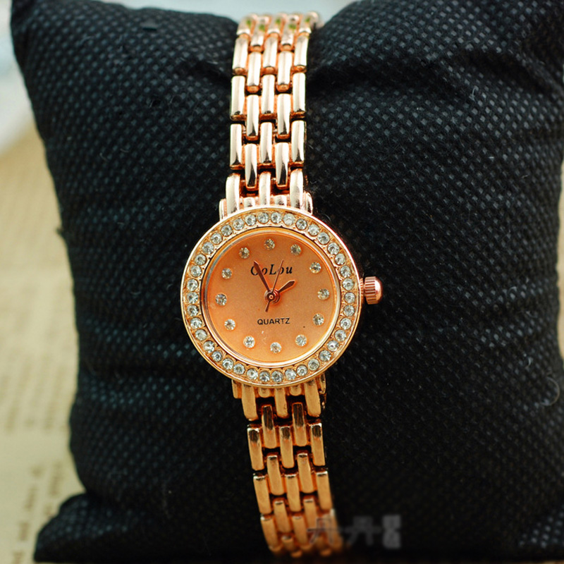 Lady Diamond Markers Full Golden Braclet Women Watch 70335