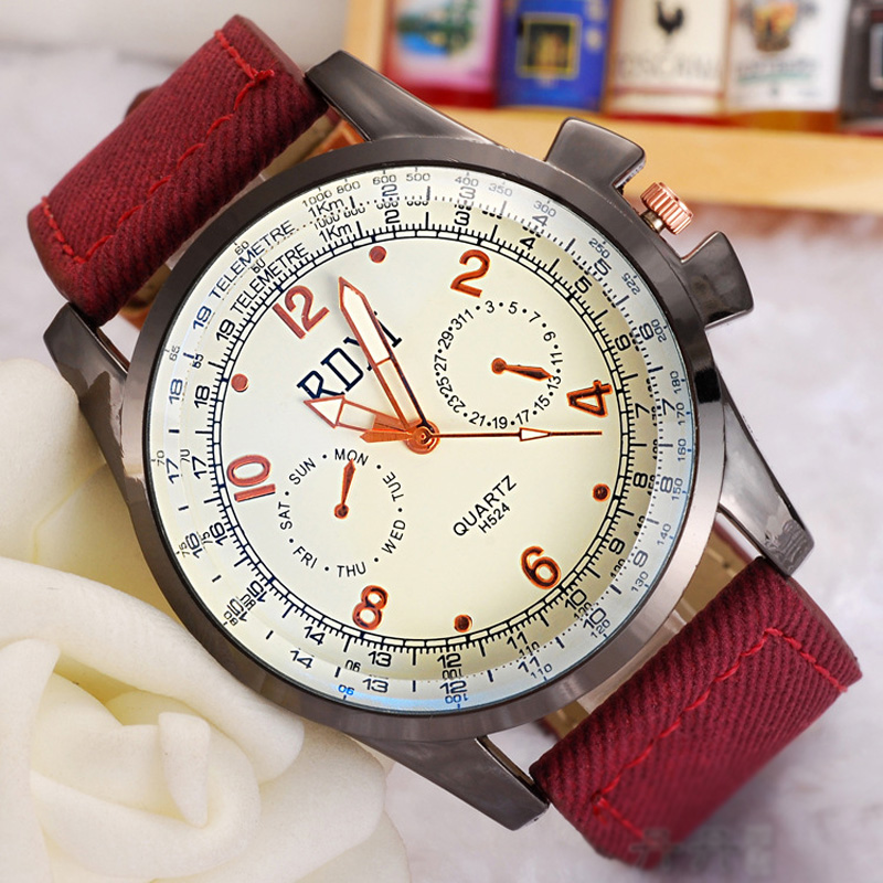 Casual Numberal Markers Alloy Case Couple Watch 69569