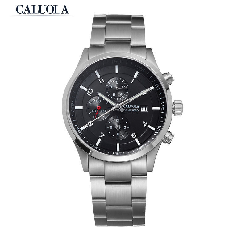 Caluola Quartz Sport Watch Chrono Date Luminous Fashion Men Watch CA169G1