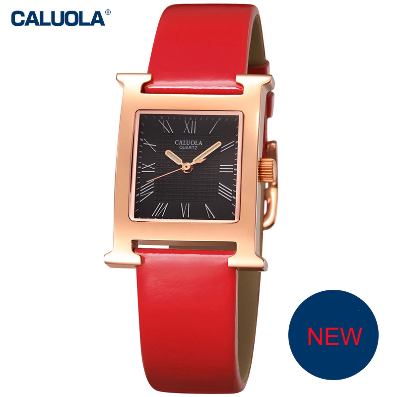 Caluola Quartz Watch Casual Women Luminous Dress Watch Fashion Design CA1054L