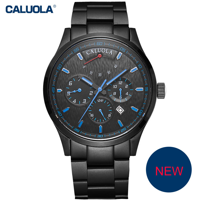 Caluola Fashion Automatic Watch Day-Date Power Reserve Men Watch Business CA1150MM1