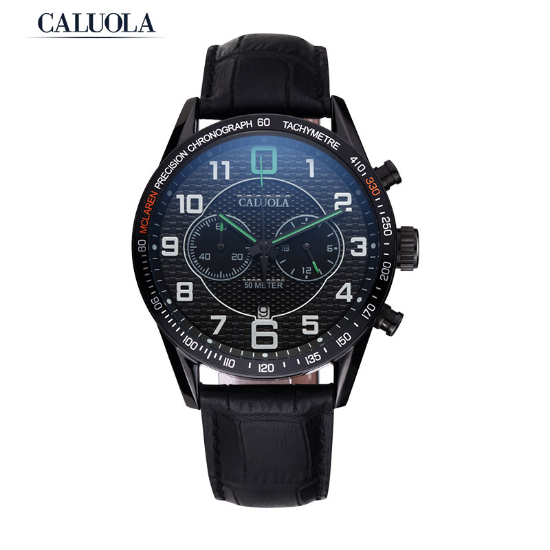 Caluola Quartz Watch Chrono Date 24-Hour Men Watch Sport Watch CA1059G
