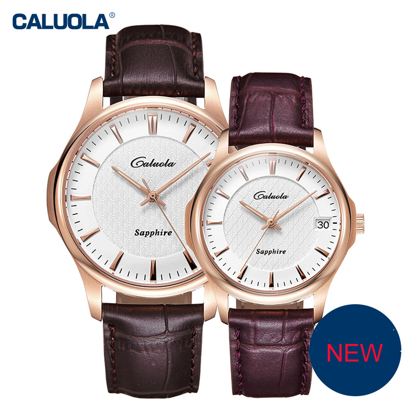Caluola Automatic Watch Date Fashion Watch Luminous Couple CA1166mm