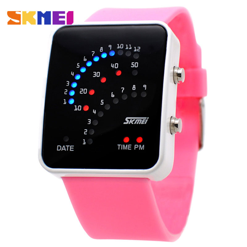 SKMEI Brand 30M Waterproof LED Lamp Display Digital Watch