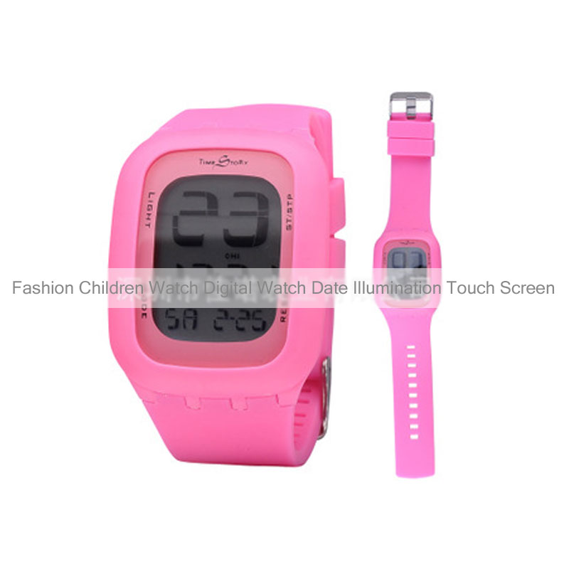 Fashion Children Watch Digital Watch Date Illumination Touch Screen