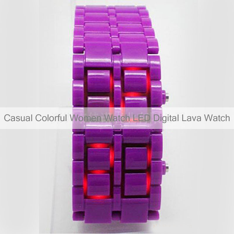 Casual Colorful Bracelet Watch LED Digital Lava Watch