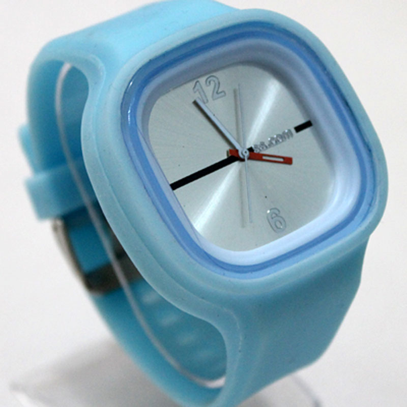 Fashion Sports Watch Square Jelly Silicone Watch Luminous