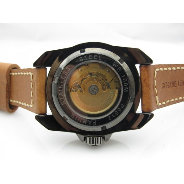 Parnis Diving Watch PVD Case Black Dial Automatic Watch Luminous