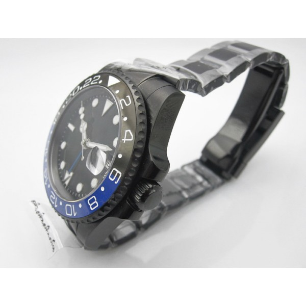Parnis GMT II Master Diving Watch Black Dial Automatic Watch Date