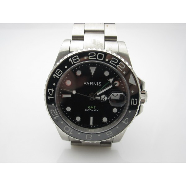 Parnis GMT II Master Diving Watch 40MM Black Dial Automatic Watch Date