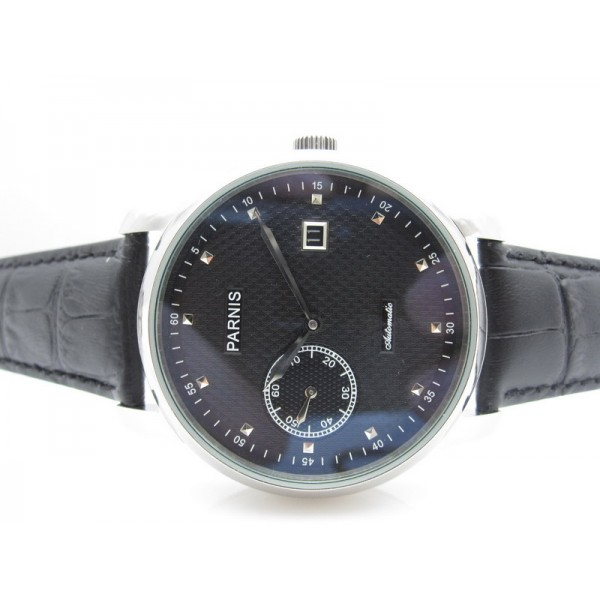 Parnis 43MM Men Watch Black Special@9 Automatic Watch Date
