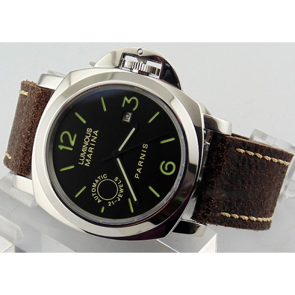 Parnis Luminous Marina Militare 44MM Watch Black Dial Automatic Watch