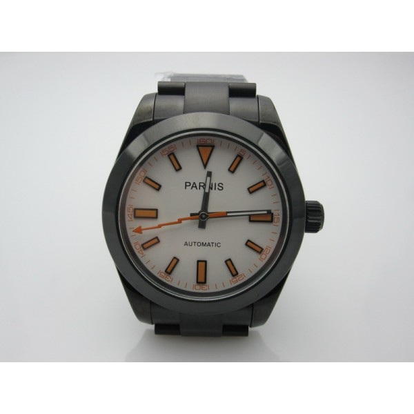 Parnis Milgauss 39MM Men Watch PVD Case Automatic Watch