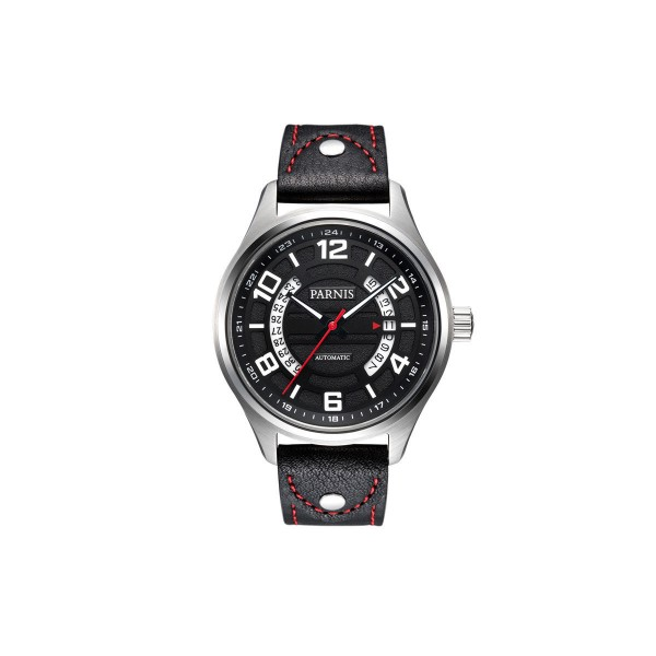 Parnis 43MM Men Watch Black Dial Automatic Watch Date