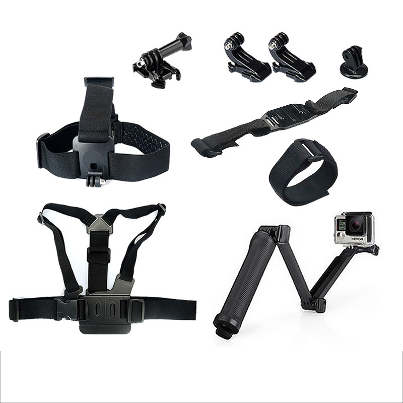 GoPro Hero4/3+ Action Camera Accessories Set headbrand chest strap three direction adjusting arm