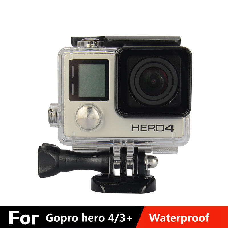 Gopro hero4/3+ Underwater Waterproof Housing Case Action Camera Accessories Protect Shell Cover