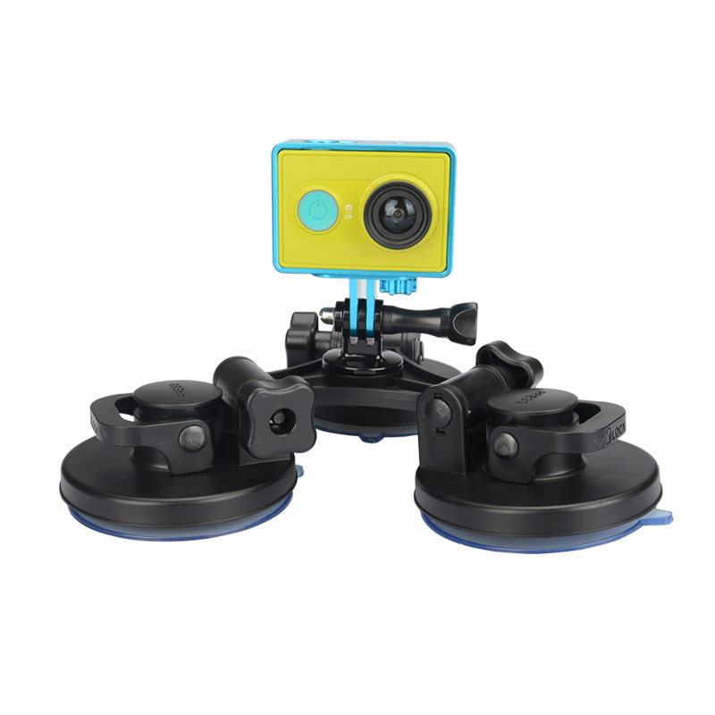 GoPro Triple Suction Cup Car Windshield Vacuum Suction Cup Mount Big Size Sucker for GoPro Hero 5/4
