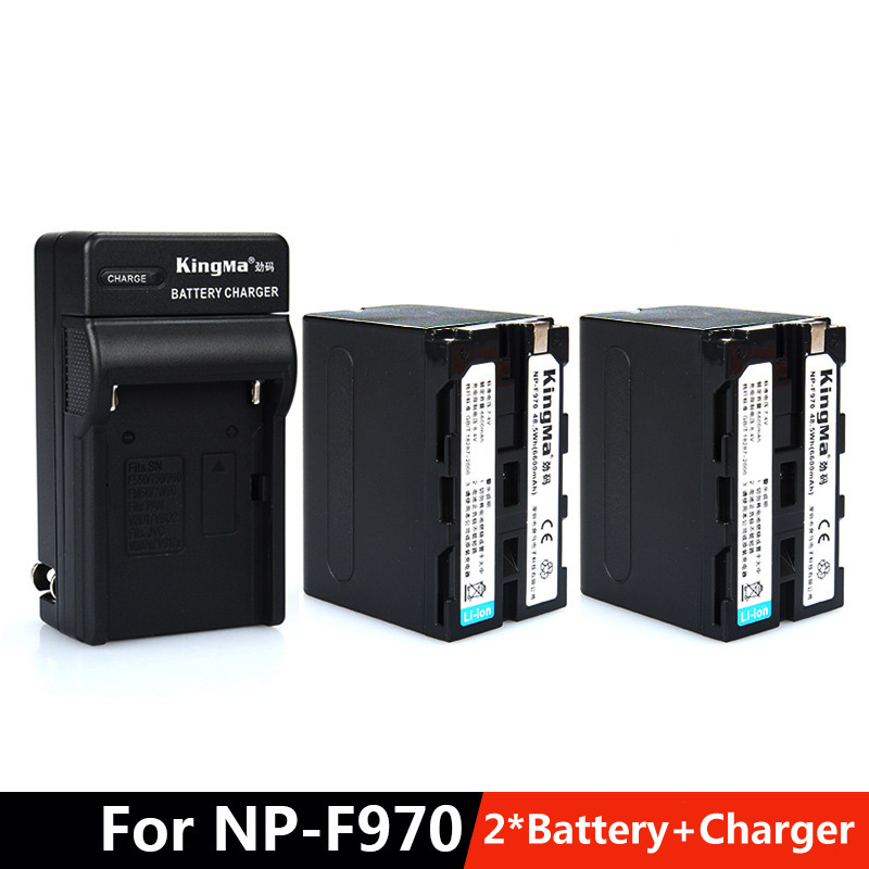 KingMa battery set for sony NP-F970 F570 F770 F960 1500C video camera 2*battery+1*Charger