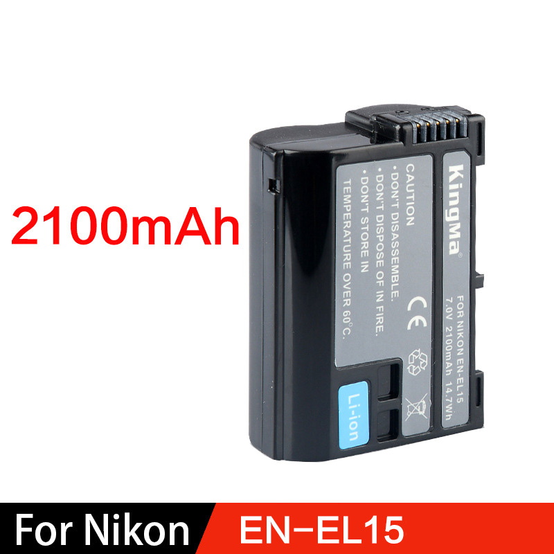 Large Capacity Nikon 7.0V 1600mAh EN-EL15 camera battery for D7100 D800E D810 D7200 V1 D7000 D750