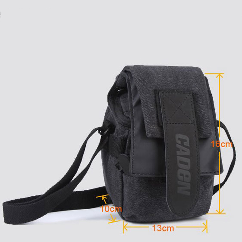 Caden M0 camera bagpack single shoulder Oblique cross package SLR camera canvas bag for Canon sony