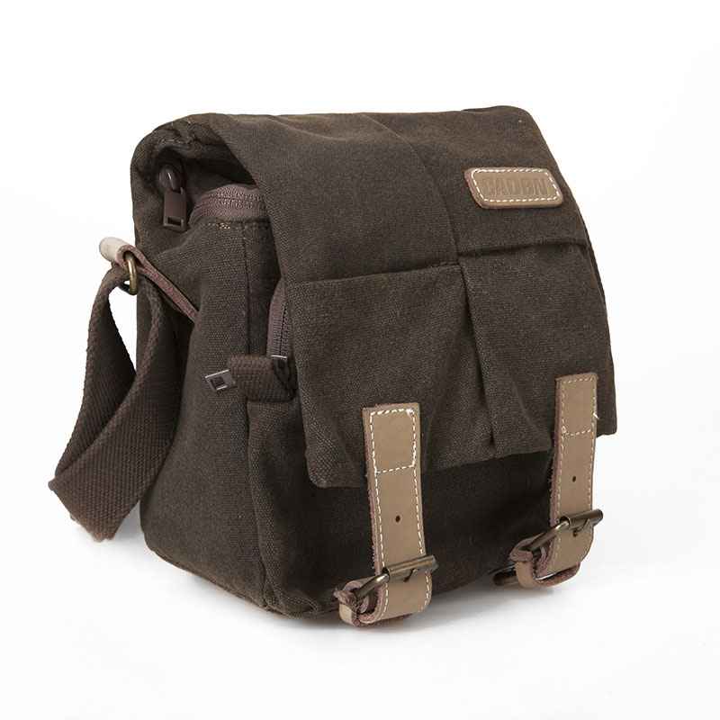 Caden canvas SLR camera backpack messenger backpack single shoulder water-proof photography bag