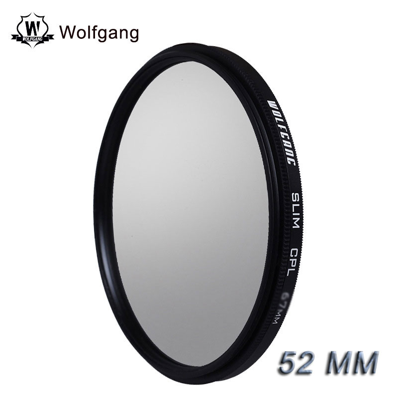 Wolfgang 52MM CPL Circular Polarizer Polarizing Filter For EOS 55-250 18-55