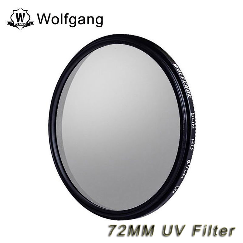Wolfgang 72MM UV Filter Lens Protector For EOS 18-200 Sony 18-105 72