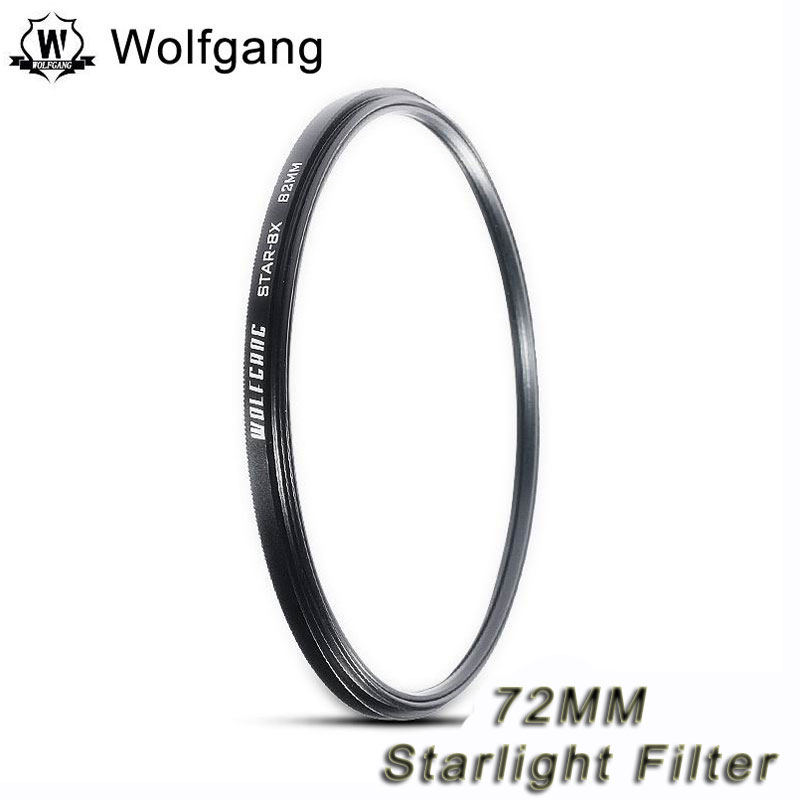 Wolfgang 72MM STAR-8X Starlight Filter Night Shots Filter For EIS 18-200