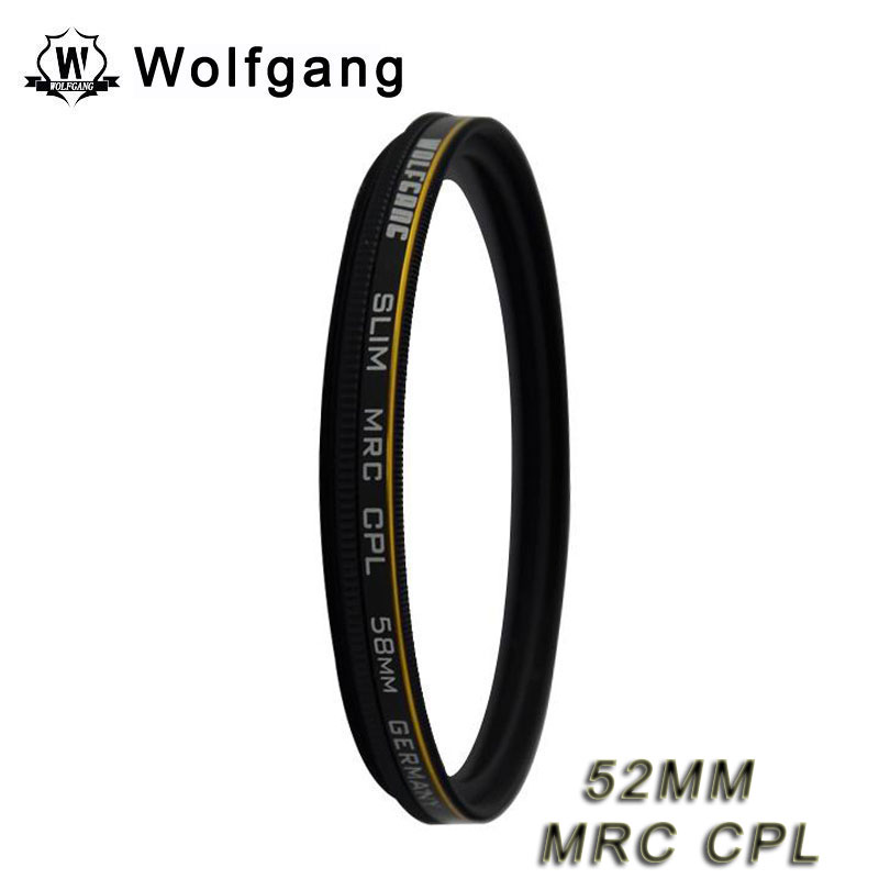 Wolfgang 52MM MRC CPL Lens Protector Waterproof Fliter For EOS 55-250 18-55
