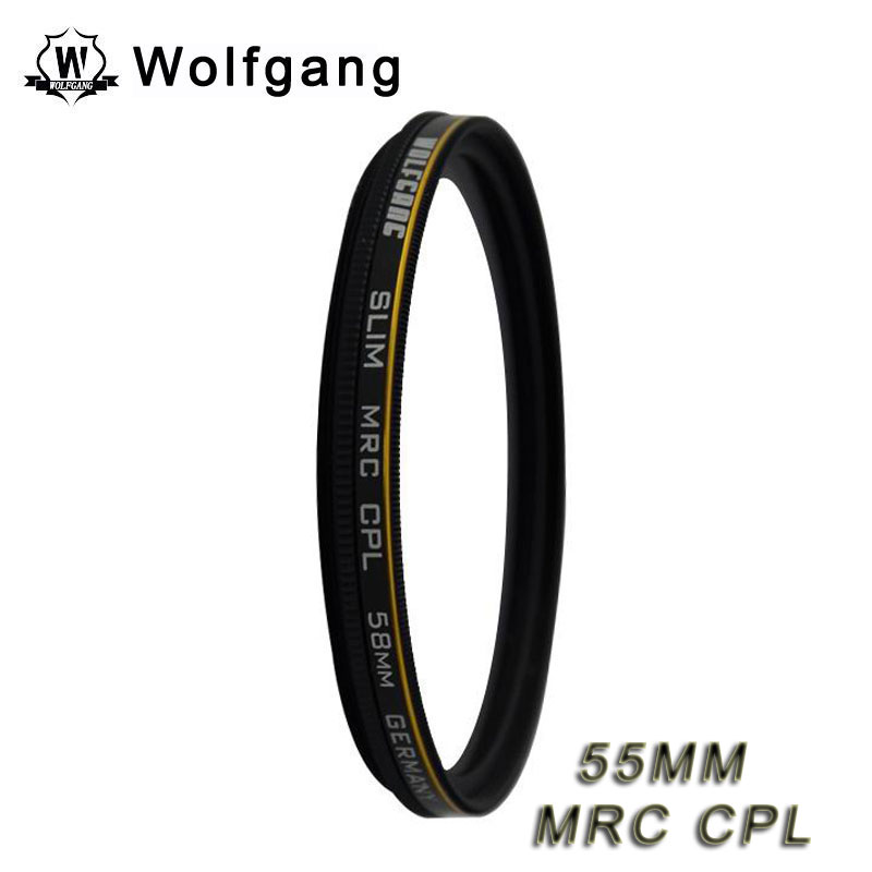 Wolfgang 55MM MRC CPL Lens Protector Waterproof Fliter For Sony 18-55