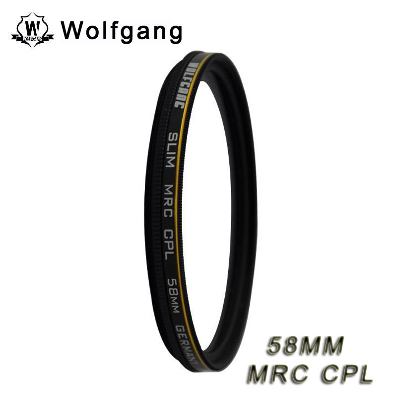 Wolfgang 58MM MRC CPL Lens Protector Waterproof Fliter For EOS 18-55 75-300