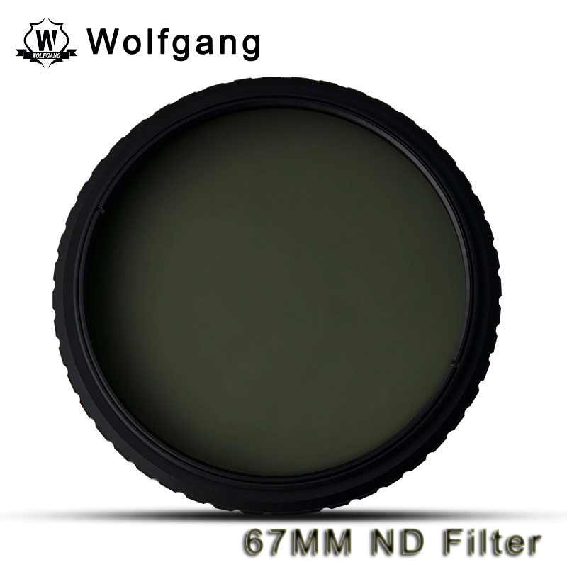 Wolfgang 67MM Adjustable ND Filter ND2-1200 For Canon 18-135