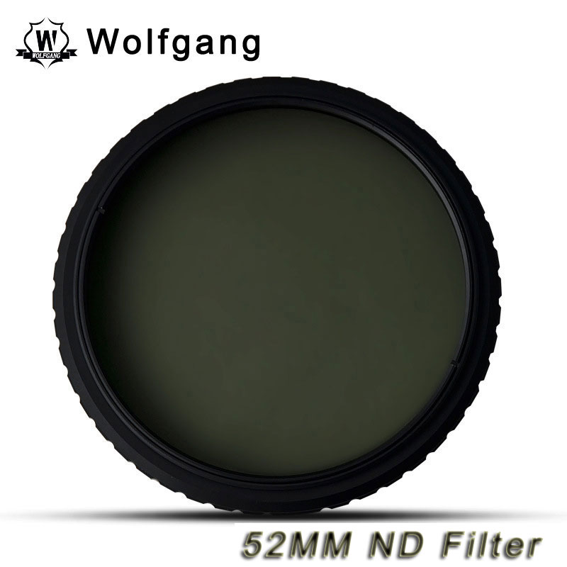 Wolfgang 52MM Adjustable ND Filter ND2-1200 For Canon 55-250 18-55 50-1.8