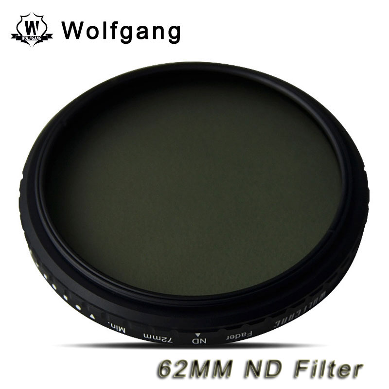 Wolfgang 62MM Adjustable ND Filter ND2-1200 For Sigma 18-200 70-300