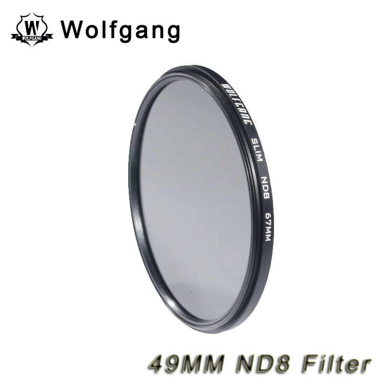 Wolfgang 49MM Neutral-Density Filter Grey ND8 Light Reduction