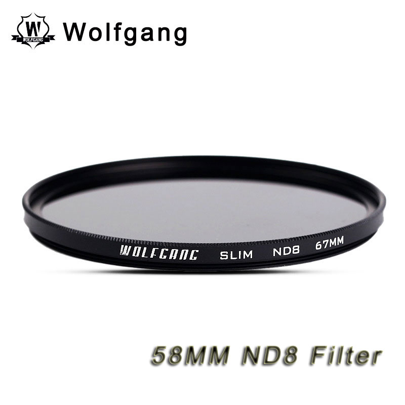 Wolfgang 58MM Neutral-Density Filter Grey ND8 For EOS18-55